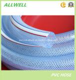 """Шланг 3/4 воды волокна PVC пластмассы зеленый прозрачный ясный Braided гибкий """""""