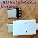 Tipo prodotto del USB 3.0 di brevetto del connettore maschio di C