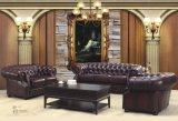 Premiers meubles en cuir de vente de sofa de Chesterfield