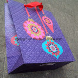 Bolsa de papel de encargo de embalaje del regalo de la Navidad de la impresión de la calidad
