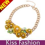 Tener Stock MOQ 12PCS Nuevo Modelo De Cristal Bib declaración de moda collar de la joyería 2014 (EN0105A)