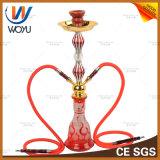 Gelbe Shisha silberne klassische Tabak-Holzkohle-Rauch-Zigaretten-Huka