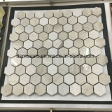 Het houten Grijze Hexagon Marmeren Mozaïek van de Korrel