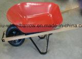 Carrinho de mão de roda resistente modelo Wb4688 do Wheelbarrow 86L de Ámérica do Sul com roda pneumática