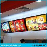 De muur Opgezette Lichte Doos van de Raad van het LEIDENE Menu van het Restaurant
