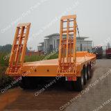 Машинное оборудование транспортируя 50 низкого тонн полуприцепа кровати