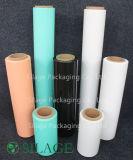 película verde do envoltório da ensilagem de 750mm/película de estiramento agricultural/película do envoltório bala de feno