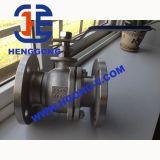 Valvola a sfera industriale di galleggiamento della flangia 2PC dell'acciaio di getto della maniglia di API/ANSI