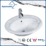 反対の陶磁器の流し(ACB012)の上の浴室の洗面器