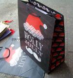 Sac de papier fait sur commande d'emballage de cadeau de Noël d'impression de qualité