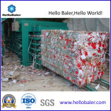 Halb automatisches horizontales Altpapier, Plastikschrott, der Maschine aufbereitet