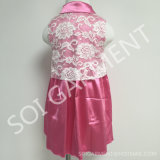 Neonata di seta Dress di Lace Flower per Children Clothing (KDR-10)