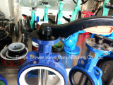 Дуктильный Тип Клапан-бабочка Вафли Места Утюга PTFE с Ручкой (Затворы Дисковые Поворотные)