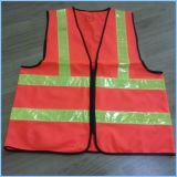 Gilet élevé de sûreté de visibilité de constructeur avec 2 bandes horizontales