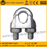 Grand clip malléable de câble métallique de l'approvisionnement DIN 741 Galv