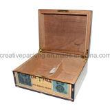 カスタムスペインスギの木製のシガーの保湿箱
