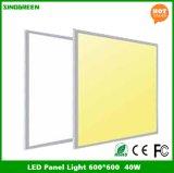 Luces del panel planas de RoHS LED del Ce caliente de las ventas 600*600 40W 80lm/W