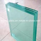 vidro laminado do branco do leite de 6.38mm e do verde de F