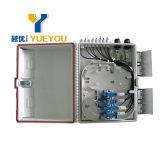 Rectángulo de ensambladura de fibra óptica al aire libre de cable del rectángulo de distribución de 16 memorias