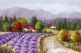 De kleurrijke Decoratieve Moderne Kunst van het Canvas van het Landschap zonder Frame