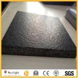G684 de Zwarte Tegel van de Muur van het Graniet van de Straatsteen, de Tegel van het Graniet met de Oppervlakte van het Leer