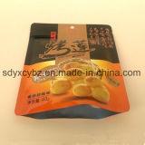 con el SGS aprobado levantarse la bolsa de plástico del alimento de la bolsa con el Ziplock para los frutos secos