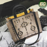 Heiße verkaufenverzierte Schulter-Beutel der Handtaschen-Form-Dame-Tote gebildet in Guangzhou Sy8090