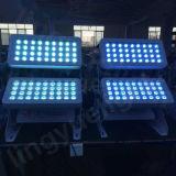 Al aire libre 72X10W etapa de DMX LED colada de la pared de la ciudad de luz de color