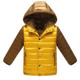 新しいモデルの男の子の冬のジャケットは、卸し売りバルク対照カラー衣類をからかう