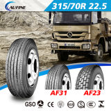 Pneumatico radiale del camion di Aufine 315/80r22.5 Af27 con il PUNTINO di estensione ECE