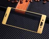 Gebogene Oberfläche der Handy-Zubehör-3D deckte voll Schutz-ausgeglichenes Glas-schützenden Film für Sony XP ab
