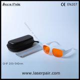 Eenvoudig Type van 266nm, 355nm, 515nm, 532nm de Beschermende brillen van de Veiligheid van de Laser van de Bescherming Eyewear/van de Laser voor 200540nm Excimer/Ultraviolette Groene Lasers met Frame52