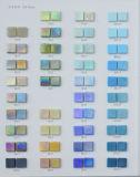 Tuile bleue de mosaïque en verre pour la piscine, matériau décoratif de STATION THERMALE