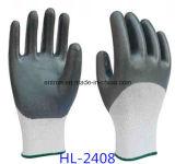 перчатка покрытия Nylon нитрила 13G половинная