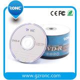 Grado de la marca de fábrica del OEM una sola capa 16X 4.7GB DVD del disco en blanco Recordable
