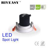 5W円形のAliuminumの穂軸白いLED Downlight LEDの照明LEDスポットライト