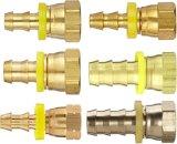 NPTの糸が付いている銅の真鍮の管のホースのトゲ連合