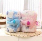 Jacquard Micro Soft niños manta con elefante de juguete