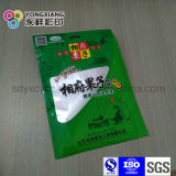 La bolsa de plástico modificada para requisitos particulares talla con el Ziplock para el alimento de bocado