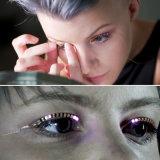 Pestañas de los latigazos LED del ojo de la manera que contellean para la mascarada de Víspera de Todos los Santos del club