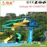 Diapositiva espiral del parque del agua de la fibra de vidrio para los adultos