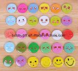Divisa de encargo del Pin del botón del diseño de Emoji de la talla para las ventas