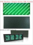 Módulo Único-Verde ao ar livre do diodo emissor de luz P10