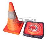 Orange ABS einziehbarer LED heller Verkehrs-Plastikkegel