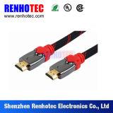 Câble coaxial de liaison plaqué par or de soudure de HDMI