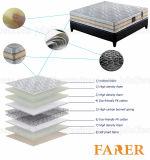 Colchón Pocket de la espuma de la memoria del resorte con la tela del poliester del telar jacquar