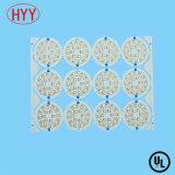 PWB rígido del aluminio LED del oro lateral doble SMT de la inmersión para la iluminación de la tarjeta del panel ((HYY-018)