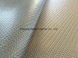 Cuero de bambú grabado de la PU del PVC del modelo para los bolsos/sofá/tapicería del amortiguador/de los muebles