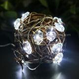 Шнур черепа Fairy освещает освещаемые батареей водоустойчивые светляка медного провода для свадебного банкета DIY