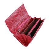 De Beurs van de Zak van het Muntstuk van de Huid van de Krokodil van de rode Kleur Dame Women Purse Wallet